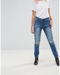 Женские синие рваные джинсы от Blank NYC