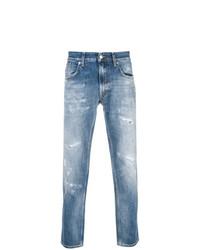 Мужские синие рваные джинсы от Department 5