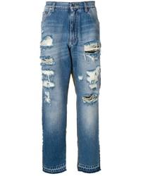 Мужские синие рваные джинсы от Dolce & Gabbana