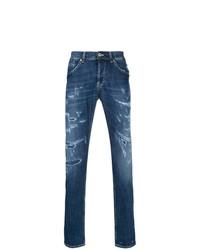 Мужские синие рваные джинсы от Dondup