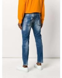 Мужские синие рваные джинсы от Entre Amis