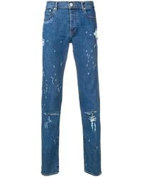 Мужские синие рваные джинсы от Givenchy