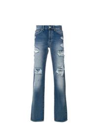 Мужские синие рваные джинсы от Htc Los Angeles
