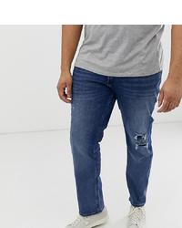 Мужские синие рваные джинсы от Jack & Jones
