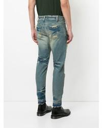 Мужские синие рваные джинсы от Julius
