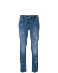 Женские синие рваные джинсы от RED Valentino