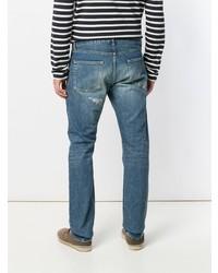 Мужские синие рваные джинсы от Saint Laurent