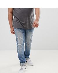 Мужские синие рваные джинсы от Sixth June