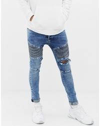 Мужские синие рваные зауженные джинсы от Voi Jeans