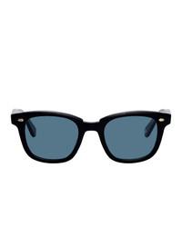 Мужские синие солнцезащитные очки от Garrett Leight