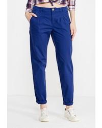 Синие узкие брюки от Modis