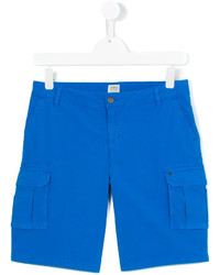 Детские синие хлопковые шорты для мальчику от Armani Junior