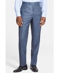 Синие шерстяные классические брюки