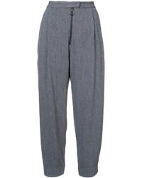 Женские синие шерстяные широкие брюки от Rachel Comey