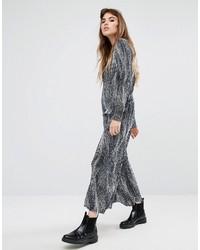 Женские синие широкие брюки с принтом от Reclaimed Vintage