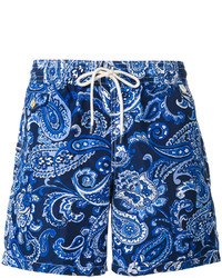 "Синие шорты для плавания с ""огурцами"" от Polo Ralph Lauren"