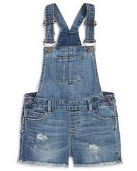 Синие штаны-комбинезон