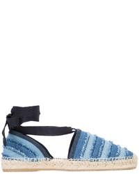 Женские синие эспадрильи из плотной ткани от Jimmy Choo