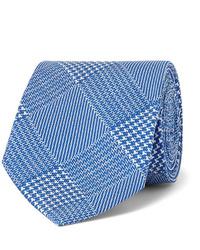 """Синий галстук с узором """"гусиные лапки"""""""