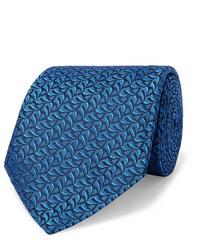 Мужской синий галстук от Charvet