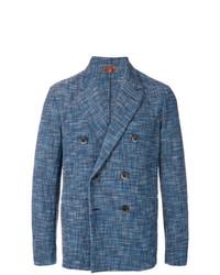 Мужской синий двубортный пиджак от Barena