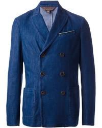 Мужской синий двубортный пиджак от Jacob Cohen