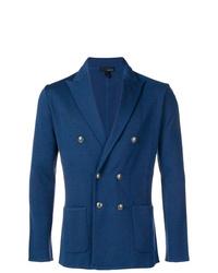 Мужской синий двубортный пиджак от Lardini