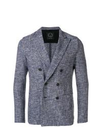 Мужской синий двубортный пиджак от T Jacket