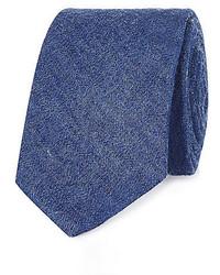 Синий джинсовый галстук