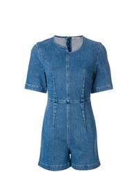 Синий джинсовый комбинезон с шортами от Stella McCartney
