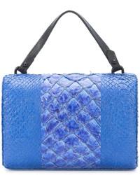 Женский синий замшевый клатч от OSKLEN