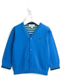Детский синий кардиган для мальчику от Armani Junior