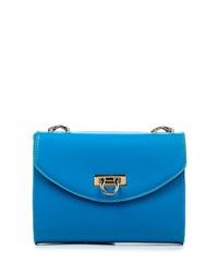 Женский синий кожаный клатч от Calipso