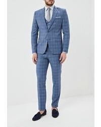 Синий костюм-тройка от Absolutex