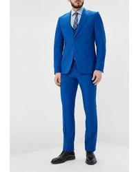 Синий костюм-тройка от Patrikman