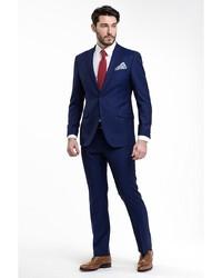 Мужской синий костюм от Troy collezione