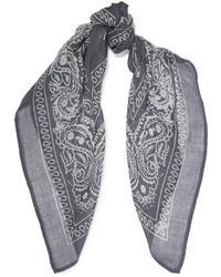 Женский синий легкий шарф с принтом от Chan Luu