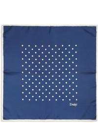 Синий нагрудный платок в горошек