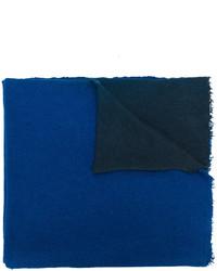 Синий палантин с рельефным рисунком от Faliero Sarti