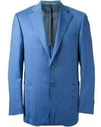 Синий пиджак в вертикальную полоску