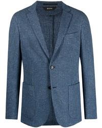 Мужской синий пиджак в клетку от Z Zegna