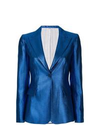 Женский синий пиджак от P.A.R.O.S.H.