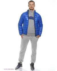 Мужской синий пуховик от adidas