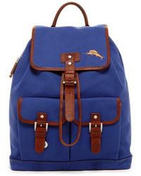 Синий рюкзак из плотной ткани