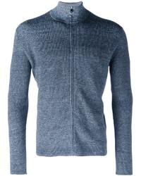 Синий свитер на молнии