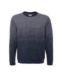 Мужской синий свитер с круглым вырезом от Burton Menswear London
