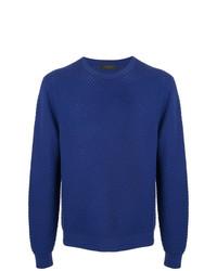 Мужской синий свитер с круглым вырезом от D'urban