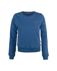 Женский синий свитер с круглым вырезом от Grezzo