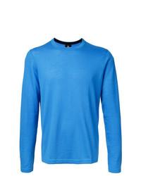 Мужской синий свитер с круглым вырезом от Kent & Curwen