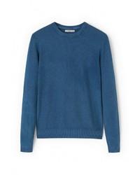 Мужской синий свитер с круглым вырезом от Mango Man